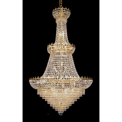 24-Light Crystal Chandelier