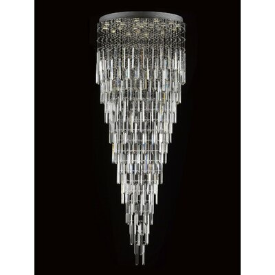 Antoninus 13-Light Chrome Crystal Chandelier