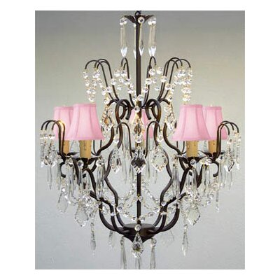 Clemence 5-Light 40W Chain Crystal Chandelier