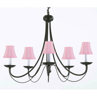 Clemence 5-Light Chain Shaded Chandelier