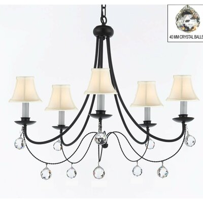 Faxon 5-Light Shaded Chandelier