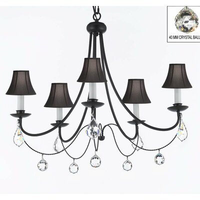 Katherin 5-Light Shaded Chandelier