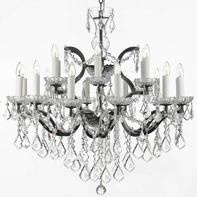Alvan 18-Light Spectra Crystal Chandelier