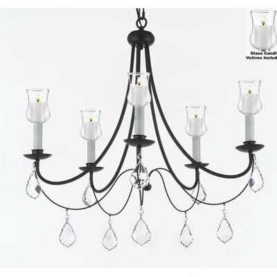 Clemence 5-Light 40W Candle-Style Chandelier