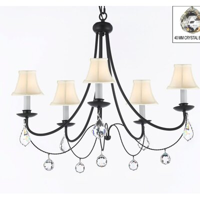 Faxon 5-Light Chain Shaded Chandelier