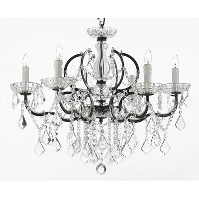 Clemence 6-Light Chain Crystal Chandelier