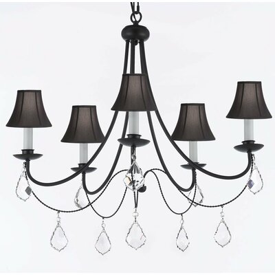 Clemence 5-Light Black Shaded Chandelier