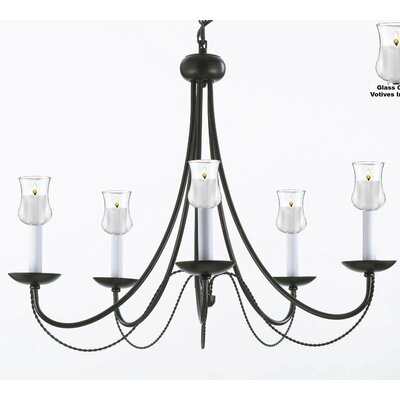 Faxon 5-Light Candle-Style Chandelier