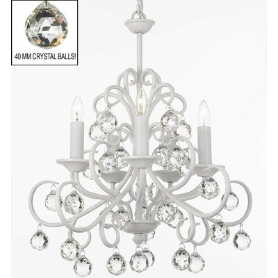 Alvan 5-Light White Candle-Style Chandelier