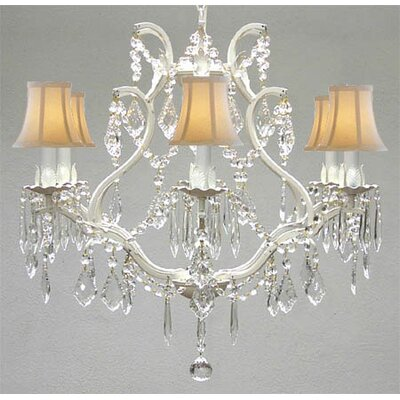 Karlov 6-Light Crystal Chandelier Crystal Grade: Empress