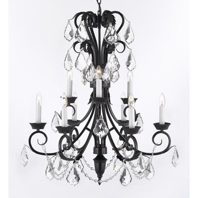 Karn 9-Light Crystal Chandelier Crystal Grade: Swarovski