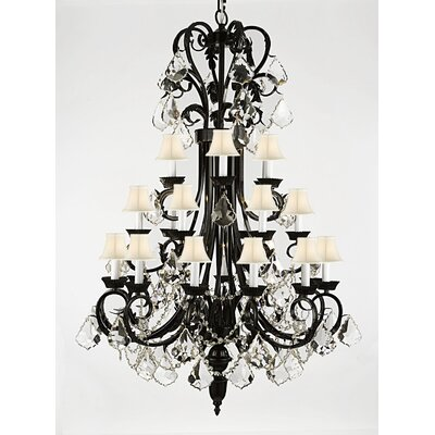Propst 24-Light Crystal Chandelier Crystal Grade: Swarovski