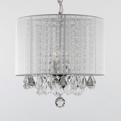 Hower 3-Light Drum Chandelier