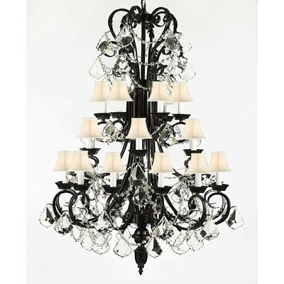 Locklear 24-Light Crystal Chandelier