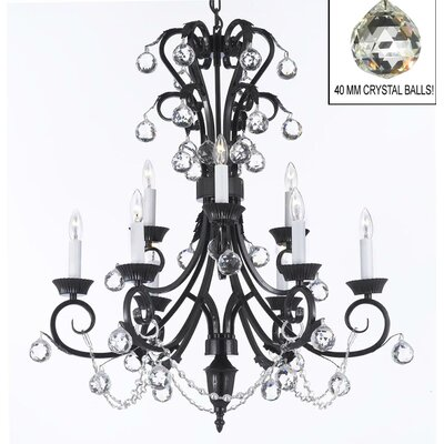 Lockard 9-Light Crystal Chandelier