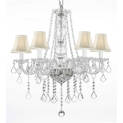 Loesch 5-Light Crystal Chandelier