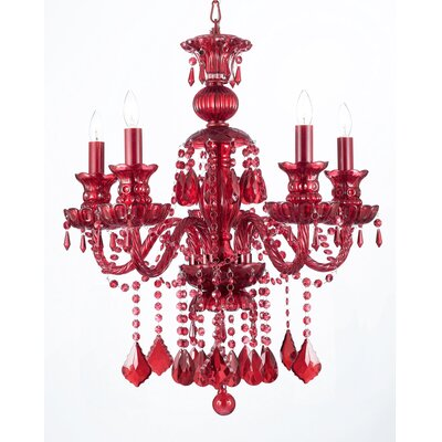 Ruby 4-Light Crystal Chandelier