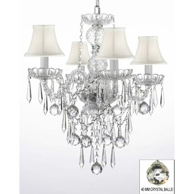 Kerwin 4-Light Crystal Chandelier