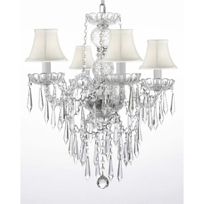 Hoffman 4-Light Crystal Chandelier