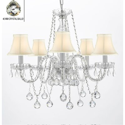 Hoffman 5-Light Crystal Chandelier