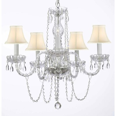 Bowerville 5-Light Beige Crystal Chandelier