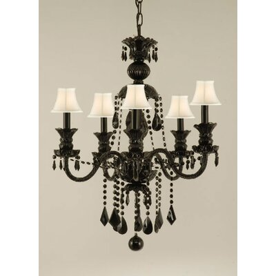 Keesee 5-Light Crystal Chandelier