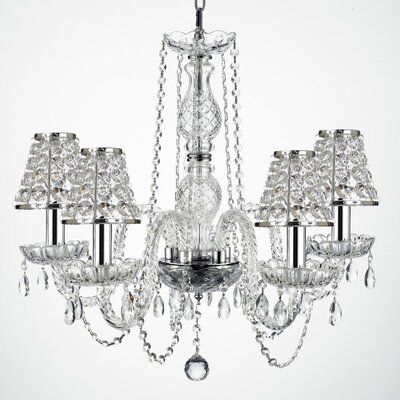 Kibby 4-Light Crystal Chandelier