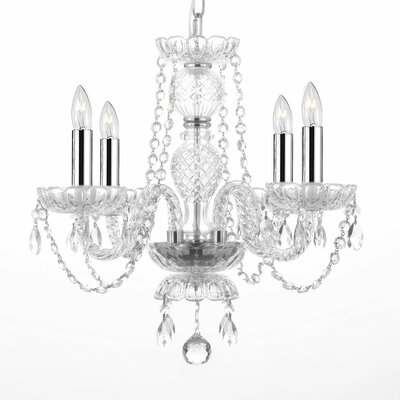 Kidwell 4-Light Crystal Chandelier