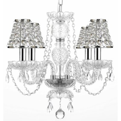Kerrick 4-Light Crystal Chandelier Shade Included: Yes