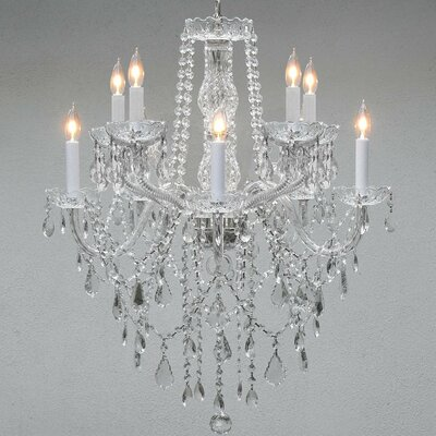 Kershner 10-Light Crystal Chandelier Crystal Grade: Swarovski