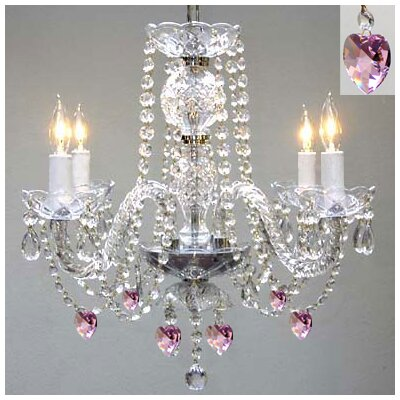 Kepley 4-Light Crystal Chandelier