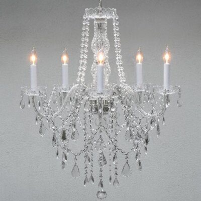 Hoffman 5-Light Crystal Chandelier Crystal Grade: Swarovski