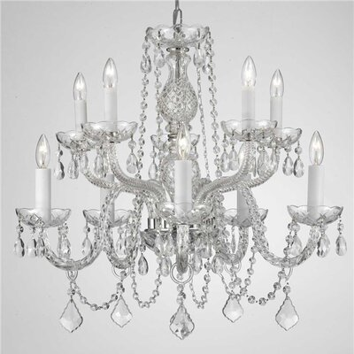 Loeffler 10-Light Crystal Chandelier