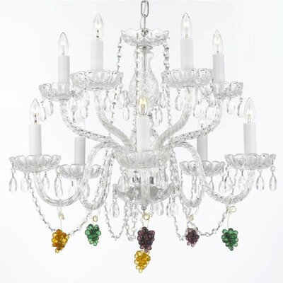 Kennerson 10-Light Crystal Chandelier