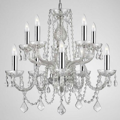 Kennon 10-Light Crystal Chandelier