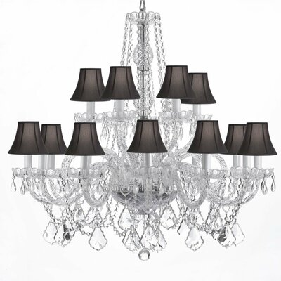 Atchley 11-Light Crystal Chandelier Shade Color: Black