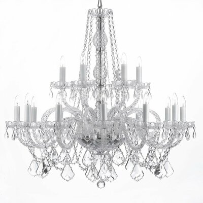 18-Light Crystal Chandelier