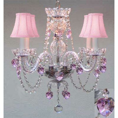 Draughn 4-Light Crystal Chandelier