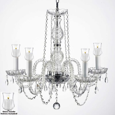 Kettner 5-Light Crystal Chandelier