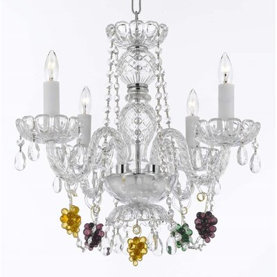 Atherstone 4-Light Elegant Crystal Chandelier