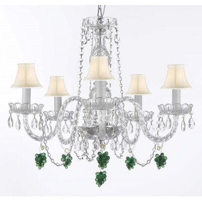 Atherstone 5-Light Elegant Crystal Chandelier
