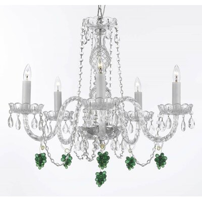 Atherstone 5-Light Venetian Crystal Chandelier