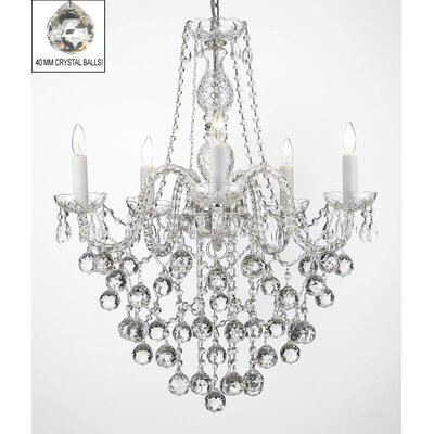 Kiesel 5-Light Crystal Chandelier