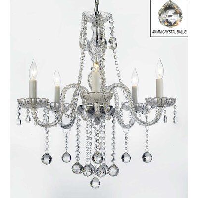 Kiger 5-Light Crystal Chandelier