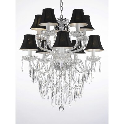 Kiker 10-Light Crystal Chandelier