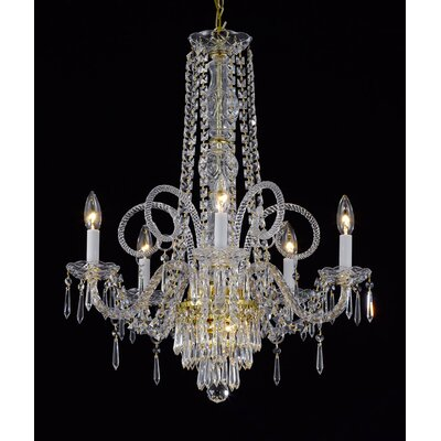 Murano 5-Light Crystal Chandelier
