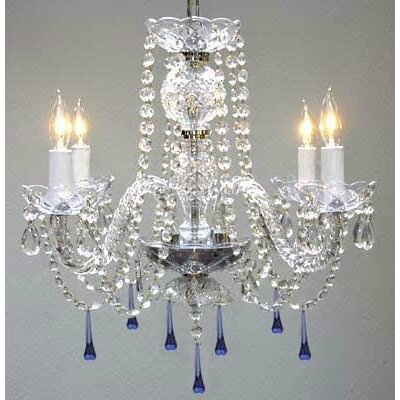Atherstone 4-Light Beige Crystal Chandelier