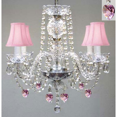 Swarovski 4-Light Crystal Chandelier