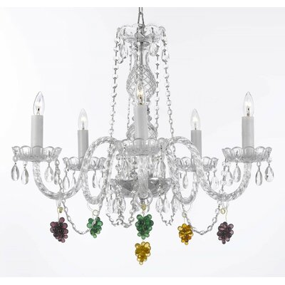 Atherstone 5-Light Crystal Chandelier