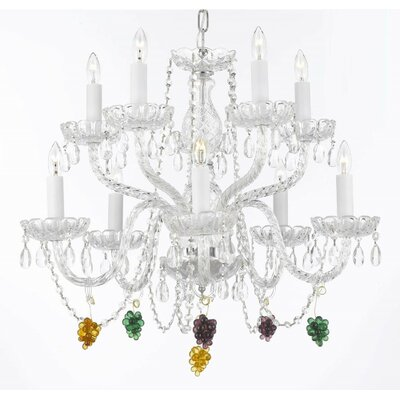 Kibler 9-Light Crystal Chandelier